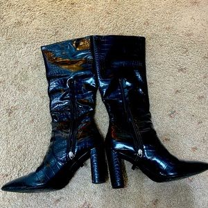 Black snake skin boots from Glassons size 9